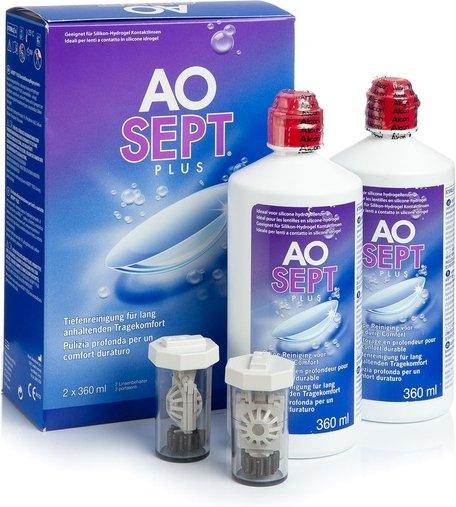 AOSEPT PLUS 2 x 360 ml mit Behälter