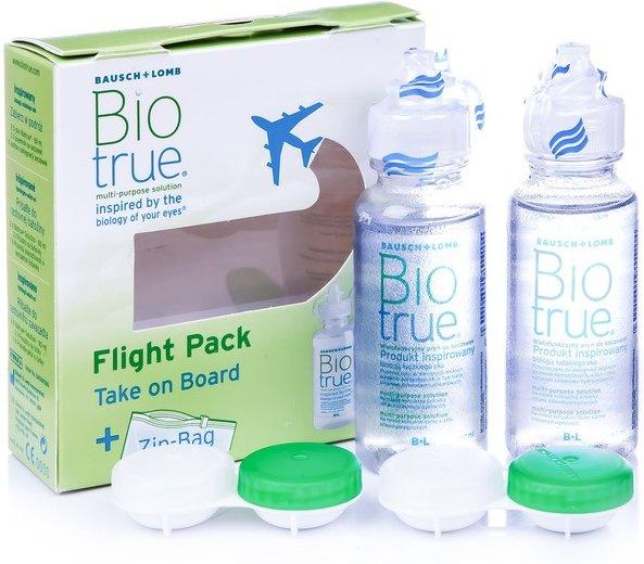 Biotrue Multi-Purpose 2 x 60 ml mit Behälter flight pack