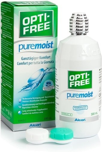 OPTI-FREE PureMoist 300 ml mit Behälter