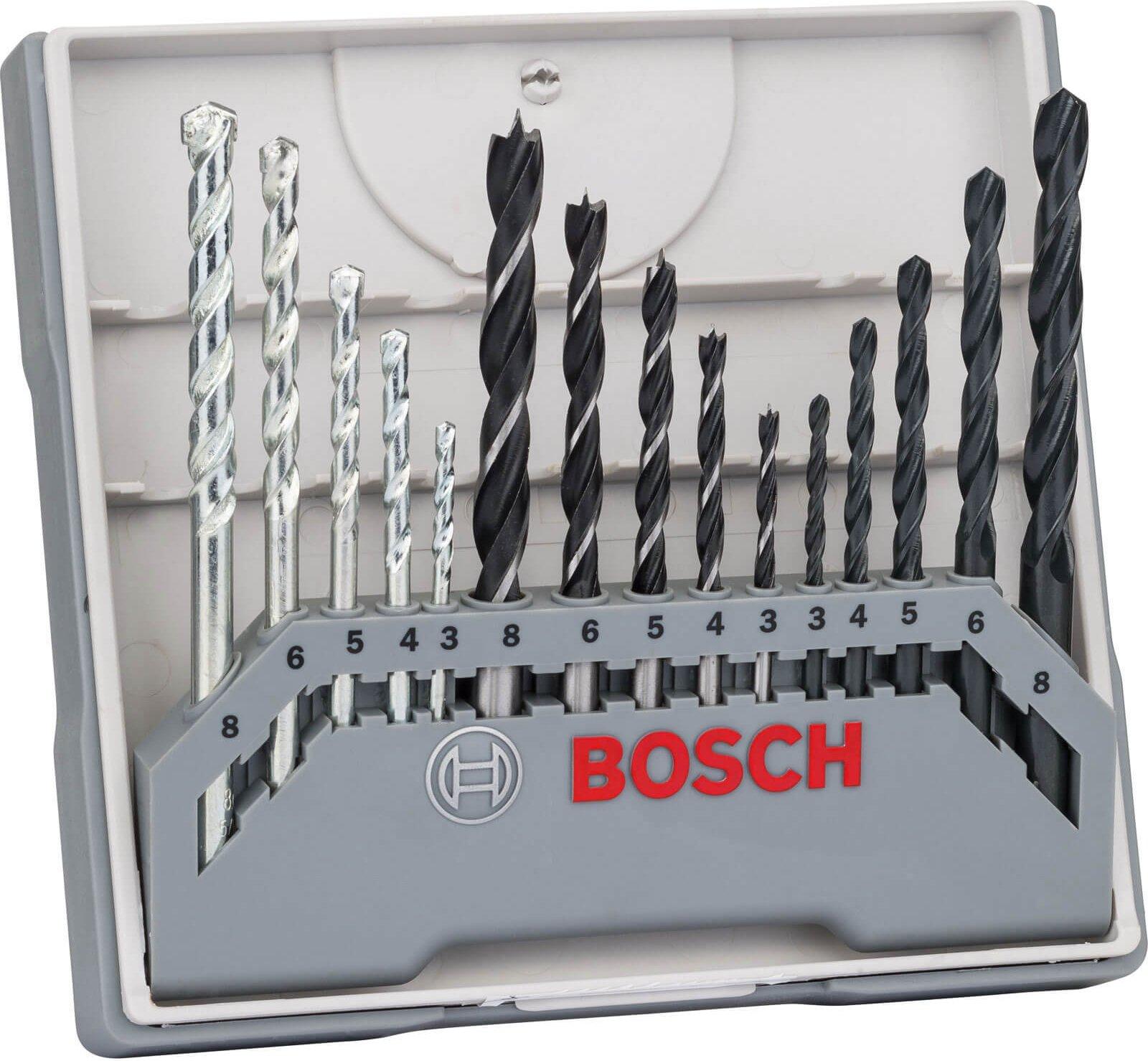 Bosch 15 Piece Mixed Drill Bit Set