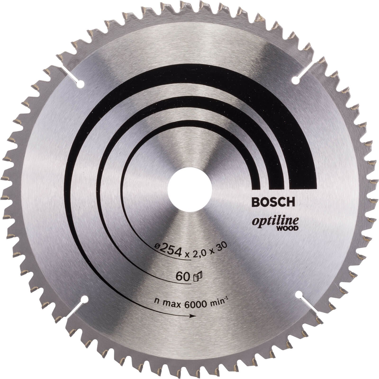 Bosch Optiline Wood Cutting Mitre Saw Blade 254mm 60T 30mm