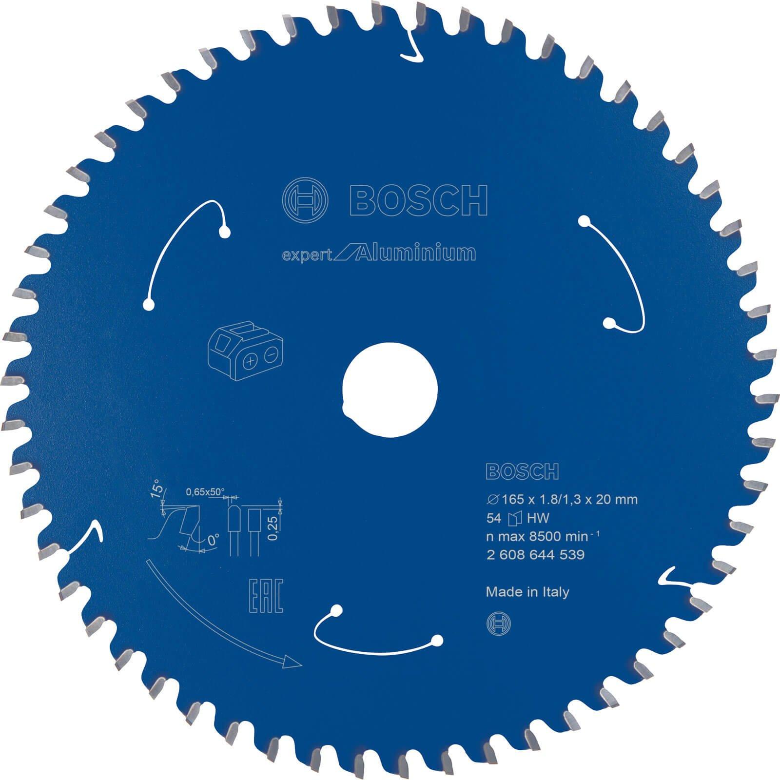 Bosch Expert Cordless Circular Saw Blade for Aluminium 165mm 54T 20mm