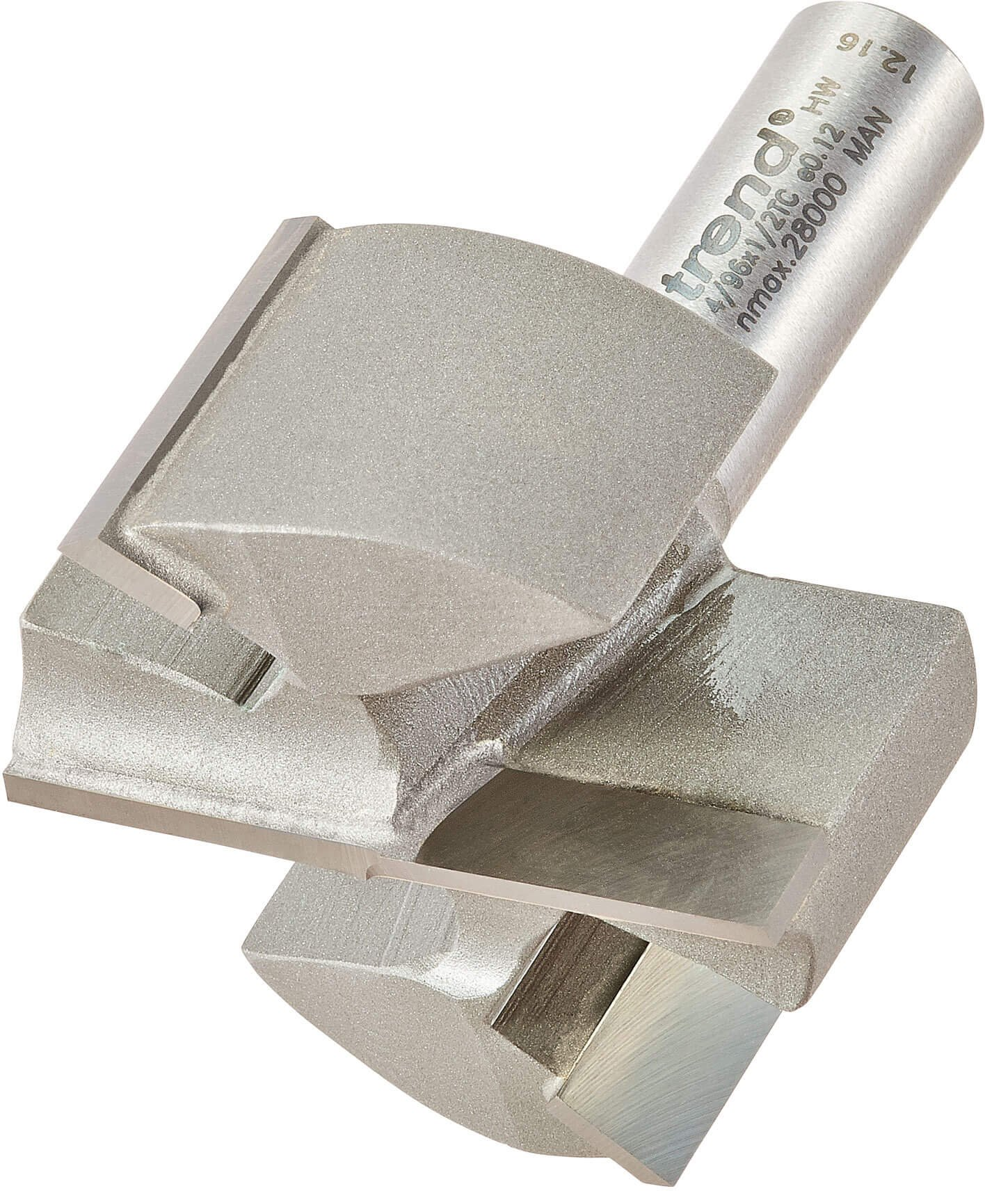 Trend Professional Two Flute Straight Router Cutter 50mm 25mm 1 2