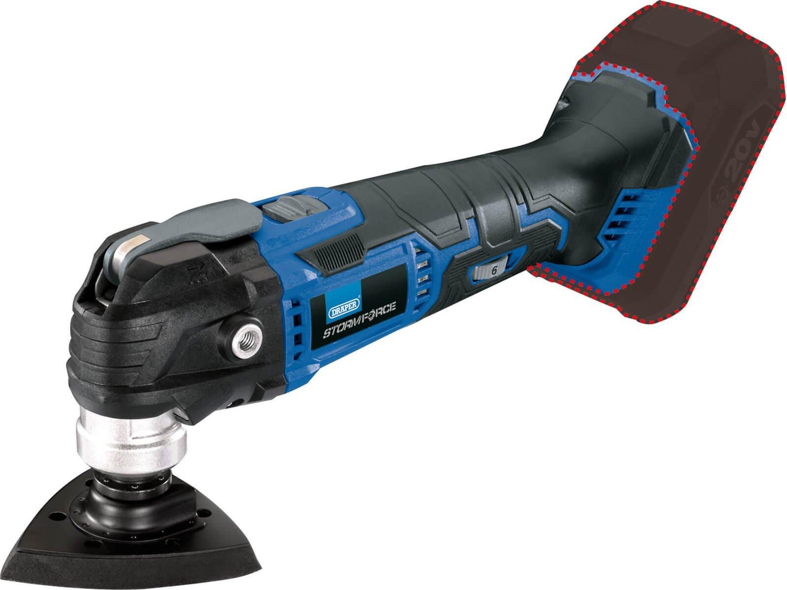 Draper COMT20SF Storm Force 20V Oscillating Multi Tool No Batteries No Charger No Case