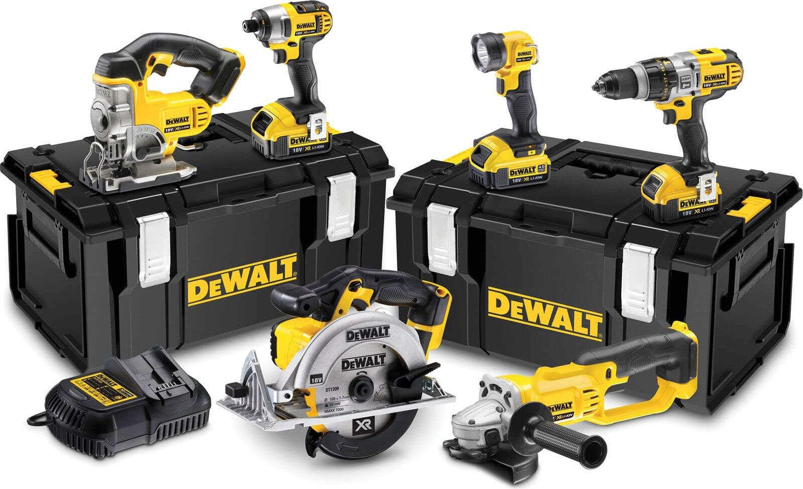 DeWalt DCK692M3 18v XR Cordless 6 Piece Power Tool Kit 3 x 4ah Li ion Charger Case