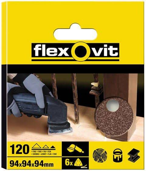 Flexovit Delta Sanding Sheets Fine Pack of 6