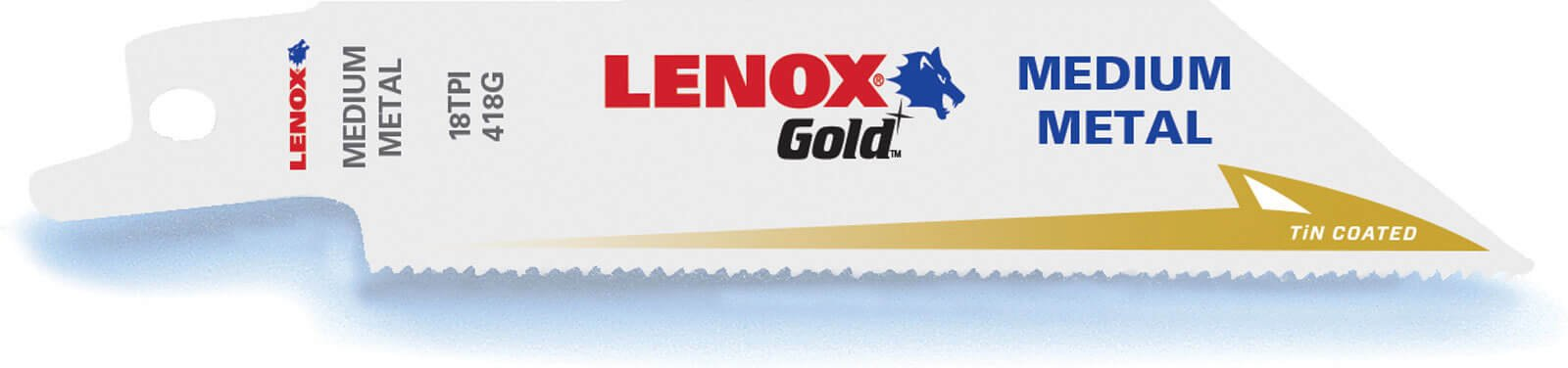 Lenox Gold 18TPI Medium Thickness Metal Cutting Reciprocating Saw Blades 102mm Pack of 5
