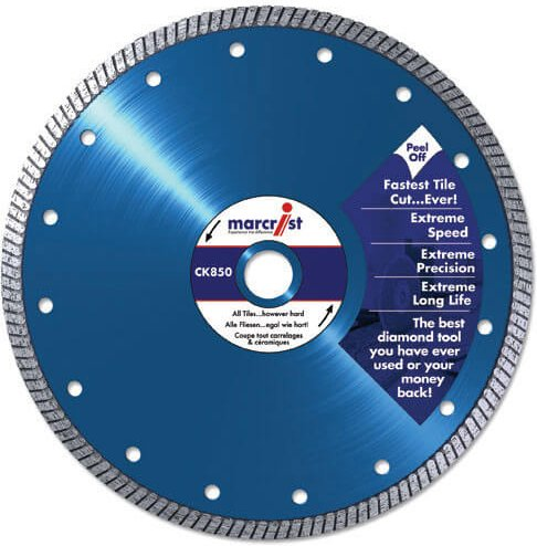 Marcrist CK850 Turbo Extreme Speed Tile Saw Diamond Cutting Blade 200mm