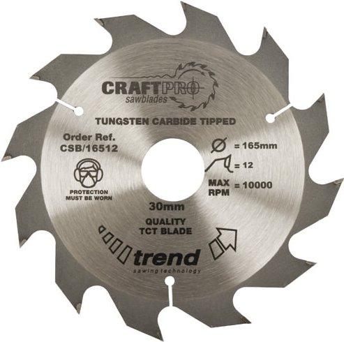 Trend CRAFTPRO Wood Cutting Saw Blade 160mm 12T 20mm