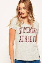 T-shirt Grigio Chiaro donna T-shirt boyfriend slim Athletic