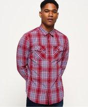 Camicia Rosso uomo Camicia a maniche lunghe Washbasket