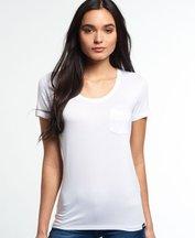 T-shirt Bianco donna T-shirt Essentials con taschino