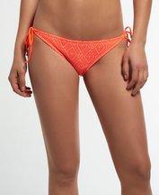 Costume Arancione donna Slip bikini con pizzo a rombi