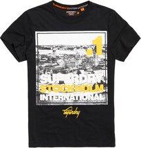 T-shirt Nero uomo T-shirt Box Photo City Stockholm