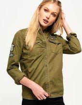 Camicia Verde donna Camicia militare Rookie Patch