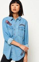 Camicia Blu donna Camicione in denim