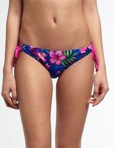 Costume Navy donna Slip Bikini Painted Hibiscus