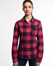 Camicia Rosso donna Camicia Super Slub Boyfriend