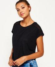 T-shirt Nero donna T-shirt Lace Insert