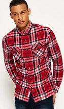 Camicia Rosso uomo Camicia scozzese Refined