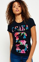 T-shirt Navy donna T-shirt Osaka Tropical Flock