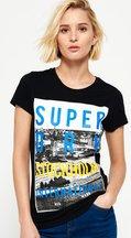 T-shirt Nero donna T-shirt Box Photo City Stockholm