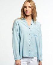 Camicia Azzurro donna Camicia Tencel Delta
