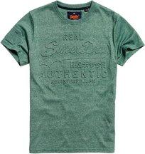 T-shirt Verde uomo T-shirt Vintage Authentic Embossed