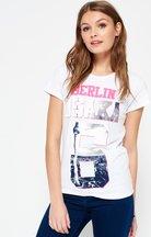 T-shirt Bianco donna T-shirt Osaka Berlin in edizione limitata