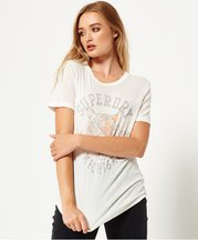 T-shirt Crema donna T-shirt Olivia Collegiate