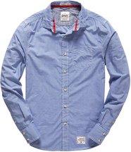 Camicia Navy uomo Camicia Laundered Cut Collar