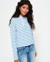 Felpa Blu donna Felpa con cappuccio Stripe Pier