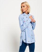 Camicia Blu donna Camicia ricamata Madison