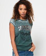 T-shirt Verde donna T-shirt con nodo sul retro