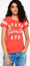 T-shirt Rosso donna T-shirt Varsity State