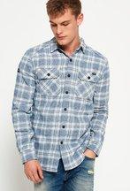 Camicia Blu uomo Camicia Milled Flannel