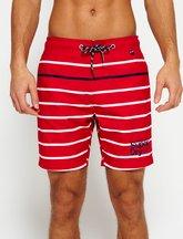 Costume Rosso uomo Pantaloncini da bagno a righe Vacation