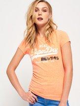 T-shirt Arancione donna T-shirt con logo Vintage Foil Pop