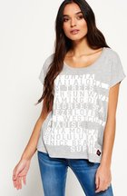 T-shirt Grigio donna T-shirt corta Text