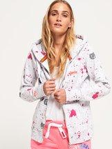 Felpa Bianco donna Felpa con zip e cappuccio All Over Print Orange Label