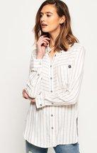 Camicia Crema donna Camicia a righe Tatum