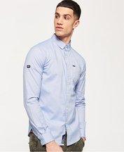 Camicia Blu uomo Camicia Oxford Pinpoint