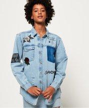 Camicia Blu donna Camicia Jeans Oversize