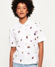 Camicia Bianco donna T-shirt Kayla Cropped Boxy