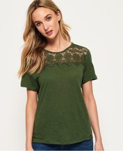 T-shirt Verde donna T-shirt in pizzo Beach
