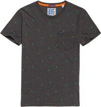 T-shirt Grigio Scuro uomo T-shirt con stampa integrale e taschino Lite
