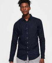 Camicia Navy uomo Camicia in lino a maniche lunghe Premium Wash