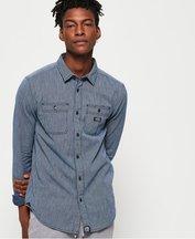 Camicia Blu uomo Camicia a maniche lunghe indaco Loom