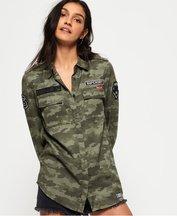 Camicia Verde donna Camicia militare Emma