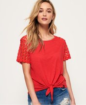T-shirt Rosso donna T-shirt in pizzo San Juan